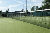 pic of hollow point  - green tennis court in the town of la spezia - JPG