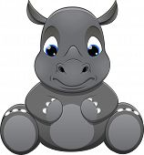 picture of rhino  - Vector illustration - JPG