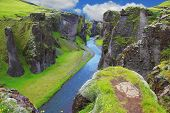 stock photo of cliffs  - Neverland Iceland - JPG
