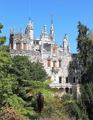 stock photo of palace  - The medieval palace in the old park - JPG