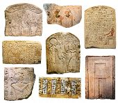 stock photo of ancient civilization  - photo collage of the ancient Egyptian paintings - JPG