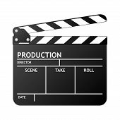 pic of clapper board  - Clapper board on white background vector illustration - JPG