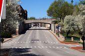 pic of broadway  - A view of the Broadway Street Bridge from Jefferson Street in Joliet - JPG