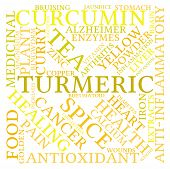 foto of ringworm  - Turmeric word cloud on a white background - JPG