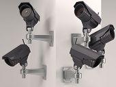 stock photo of cctv  - 3D Render of CCTV Security Camera - JPG