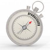 stock photo of productivity  - Productivity compass image with hi - JPG
