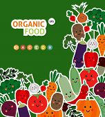 pic of vegetables  - Card with funny vegetables - JPG