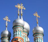 foto of cupola  - image of many cupola of church at day - JPG