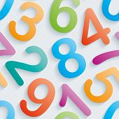 stock photo of numbers counting  - Colorful numbers wallpaper - JPG