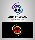 image of letter t  - Letter T logo symbol template elements vector - JPG