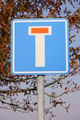 picture of traffic rules  - No through road  - JPG