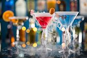 image of vapor  - Cocktail with ice vapor on bar desk - JPG