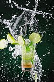 pic of liquids  - fresh mojito drink with liquid splash - JPG
