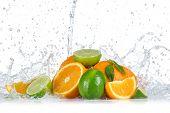 pic of dragon fruit  - Fresh fruit with water splash - JPG