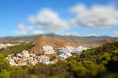 stock photo of tilt  - Malaga in Andalusia Spain - JPG
