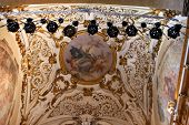 pic of church interior  - Interior of Santa Maria Novella - JPG