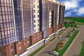 picture of orthogonal  - Apartment house structure building social housing neighborhood - JPG