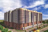 foto of orthogonal  - Apartment house structure building social housing neighborhood - JPG