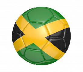 stock photo of jamaican flag  - Realistic sports item render of a soccer ball - JPG
