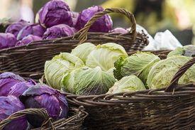 stock photo of farmer  - Fresh organic vegetables  - JPG