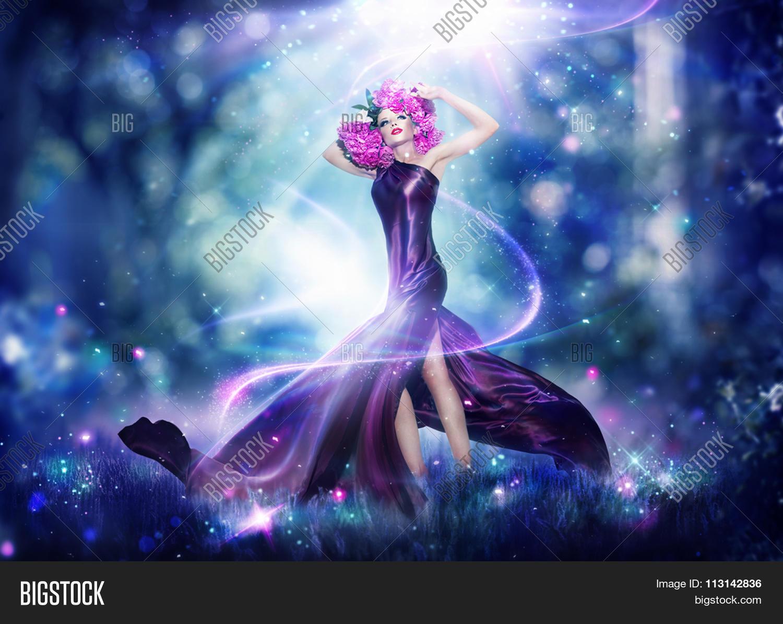 Beautiful Fantasy Fairy Woman Image Amp Photo Bigstock