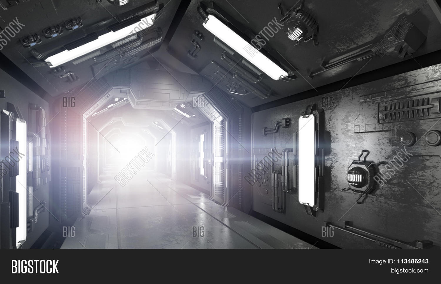 Futuristic Spaceship Interior Image Photo Bigstock