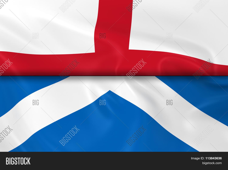Flags England Scotland Split Half Image  Photo  Bigstock