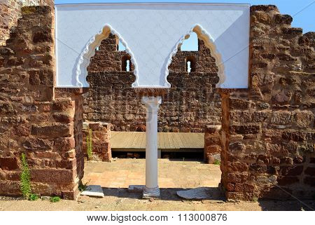 Silves historical castle in the Algarve Portugal
