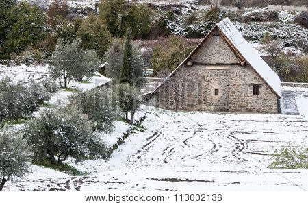 Ancient Christian Church Of Panagia Podithou From Cyprus.