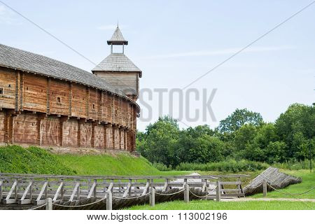 Cossack fortress from logs.