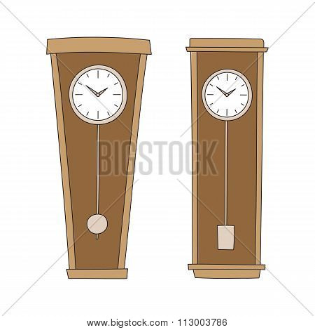 Vector pendulum clocks
