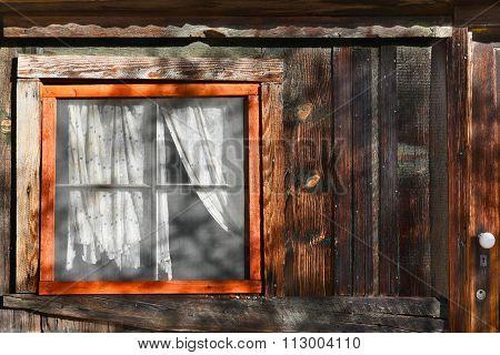 JOSHUA TREE, CALIFORNIA - JANUARY 1, 2016: Window at Keys Ranch. In Joshua Tree National Park the ranch was built by homesteader Bill Keys.