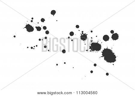 Vector black blots and splashes.