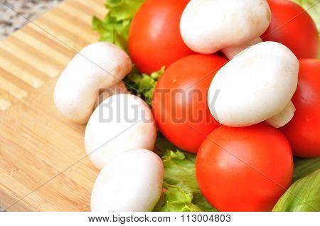 Clean fresh vegetables