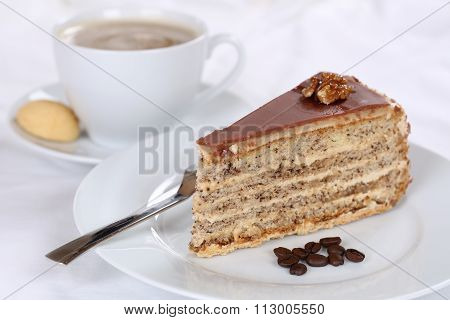 Coffee And Cake Tart Dessert