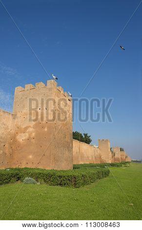 Almohad City Walls Of Rabat, Morocco.
