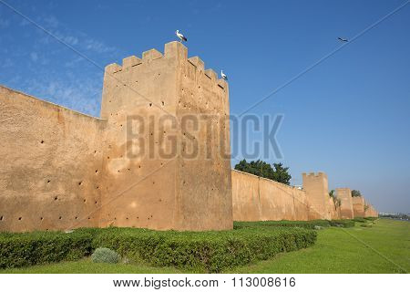 Almohad City Walls Of Rabat, Morocco.