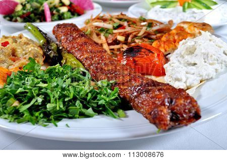 Cooked meat Adana kebab