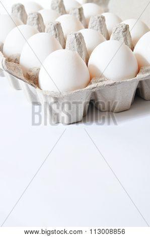 Organic white eggs