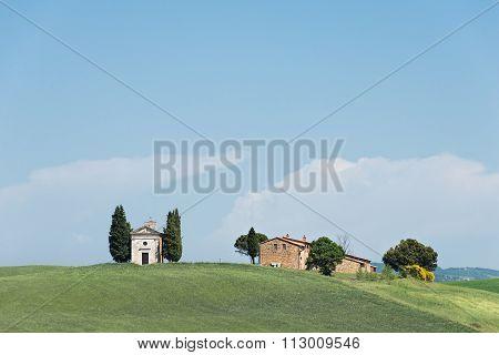 Cappella Della Madonna Di Vitaleta Church In Tuscany