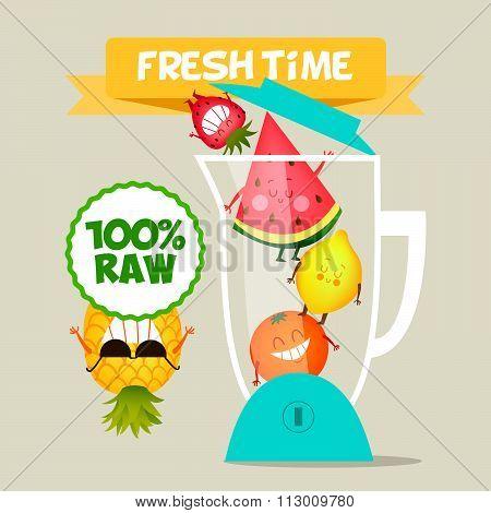 friends, fun, vegan, green, diet, comic, organic, detox, vector, character, summer, dieting, fitness
