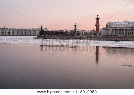 Rostral Columns On A Winter Evening