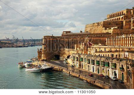 Valletta And Grand Harbour. Malta