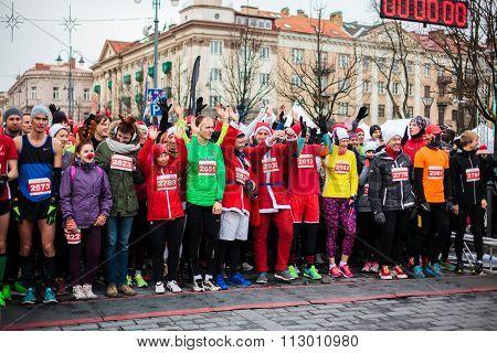 Christmas Marathon In Vilnius