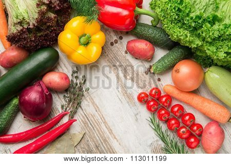 Set Of Isolated Vegetables Part