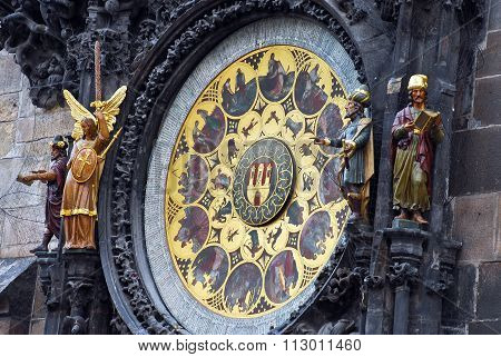 Prague, Czech Republic: May, 2011 - The Prague astronomical clock, or Prague orloj, Prague, Czech Republic