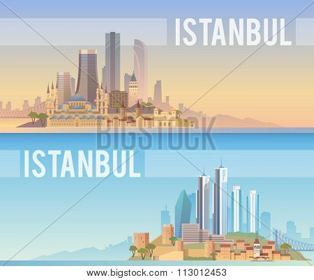 Istanbul. Vector banners.