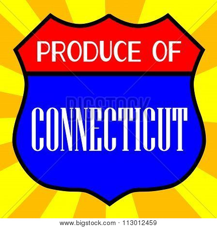 Produce Of Connecticut Shield
