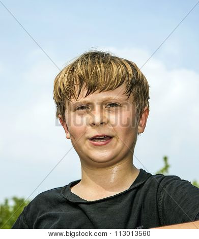 Sweating Boy After Sports