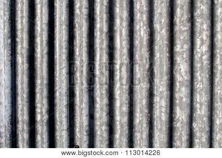 Corrugated steel abstract textured background